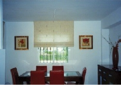 Dining area leading to patio