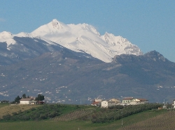 views of Gran sasso from the house