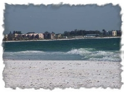 Siesta Key beach, 2.5 miles away