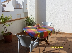 table and chairs on balcony