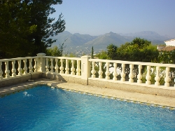 View of the Jalon Valley from the pool