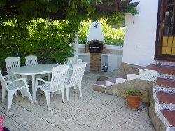 Barbeque and outdoor dining area