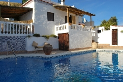 Villa balcony overlooking pool