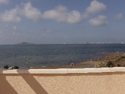 View from sun terrace over the Mar Menor