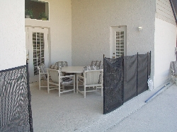 Patio Area Showing Safety Fence