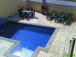 view of pool from roof terace