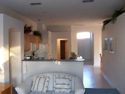 Family room looking towards kitchen area
