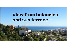 View from balconies and sun terrace