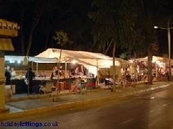 Nightly craft market