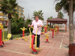 Outdoor gym on sea front