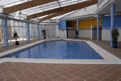 Indoor pool & spa area