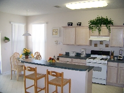 The kitchen and breakfast areas