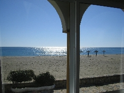 The beach from bedroom