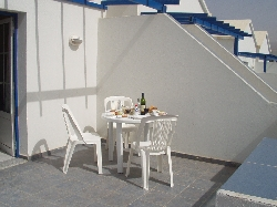 Enjoy a meal on the terrace