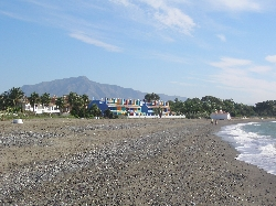 Nearest beach with view to Marbella
