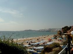 The beach looking towards Albufeira