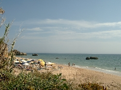 The beach looking away from Albufeira