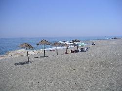 Local Beach with typical beach bar