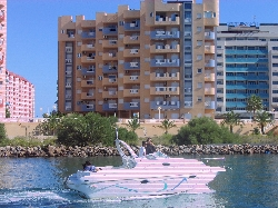 The apartment from the marina
