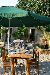 Terrace of our private restaurant