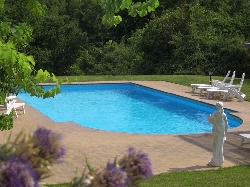 Private Pool with terracotta terrace