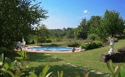 Statue, garden, private pool, view