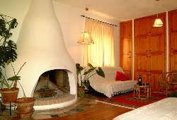 Air Conditioned living room,fireplace