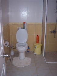 The shower is now a corner vibro bath