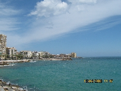 View of Torrevieja from the pier