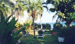 view of garden looking out to sea