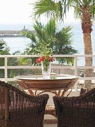 Enjoy a peaceful aspect of sea and palms