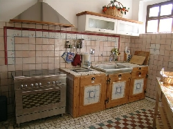 Kitchen in the villa