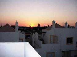sunset from upper terrace