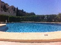 The beautiful, large pool.