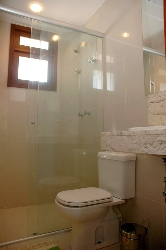 Bathroom with wc, shower and marble sink