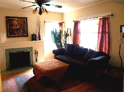 Living Room Features Fireplace