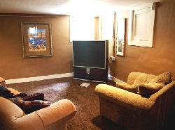 Family Room with Big Screen