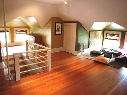 Upstairs Room with Three double Beds
