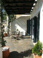 Pergola/stone patio
